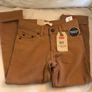 Levi's 511 khakis with reflective details